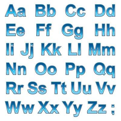 Poster Alfabeto pseudo 3d lettere