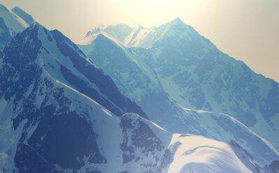 Poster Alte montagne del Caucaso