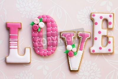 Poster Amore biscotti