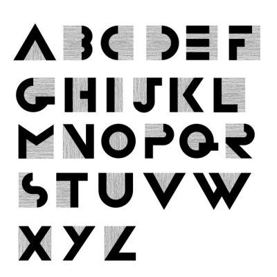 Poster Ampia decorativi retrò alfabeto