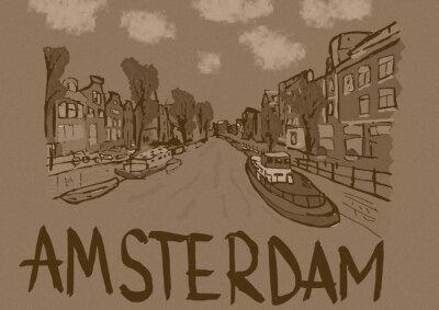 Poster Amsterdam annata