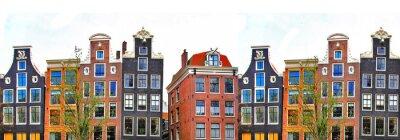 Poster Amsterdam. border case tradizionali