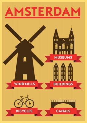 Poster Amsterdam Città Tipografia design