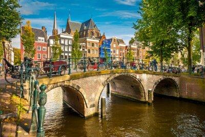 Poster Amsterdam paesaggio urbano