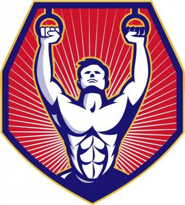 Poster Anello Crossfit Formazione Atleta Retro