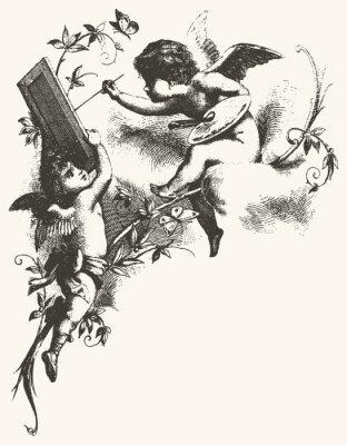 Poster Angels - toni di grigio