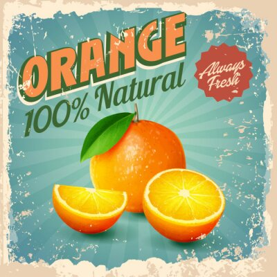 Poster arancione epoca