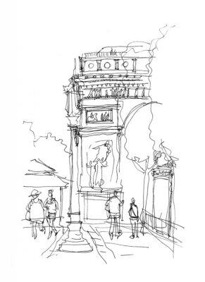 Poster Arc de Triomphe schizzo