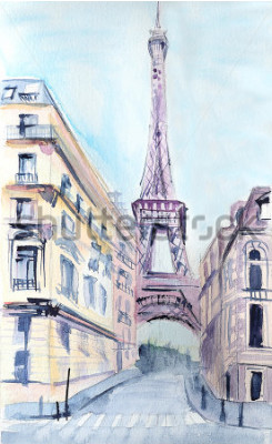 Poster Architettura di Parigi Torre Eiffel