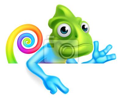 Poster Arcobaleno fumetto Chameleon puntamento