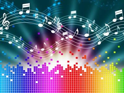 Poster Arcobaleno musica di sottofondo Mezzi Melody Canto E Soundwaves.