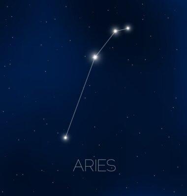 Poster Ariete costellazione in cielo notturno