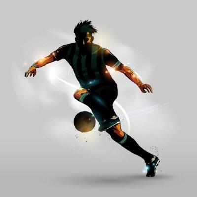 Poster Astratto calcio funziona con la sfera