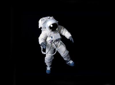 Poster Astronauta galleggiante su uno sfondo nero.