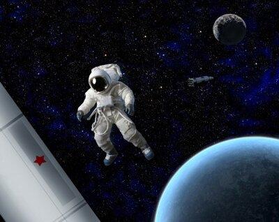 Poster Astronauta nello spazio