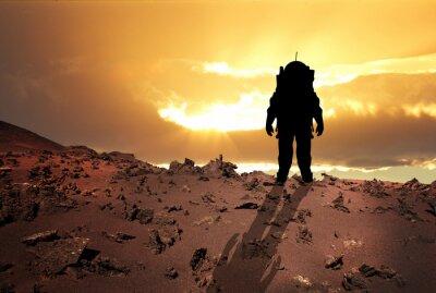 Poster Astronauta su Marte