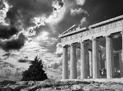 Poster Atene - L'Acropoli e bella Cloudscape