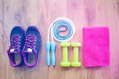 Poster attrezzature per il fitness