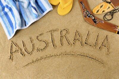 Poster Australia Spiaggia sfondo