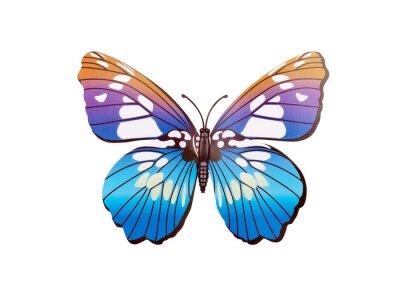 Poster autoadesivo della parete farfalla