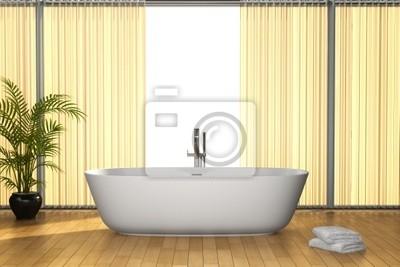 Bagno Marrone Moderno : Bagno moderno con pavimento marrone manifesti da muro u poster