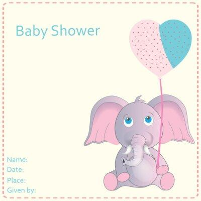 Poster Bambino doccia invito