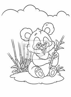 Bamboo Panda Pagine Da Colorare Cartone Animato Manifesti Da Muro