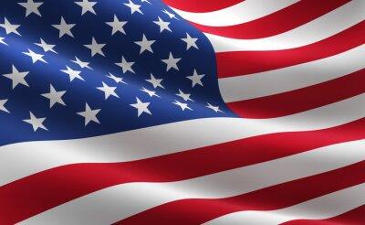Poster Bandiera degli Stati Uniti d'America