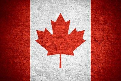 Poster bandiera del Canada
