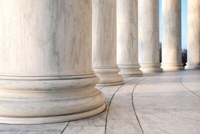 Poster Base di colonne ioniche al Jefferson Memorial a Washington DC