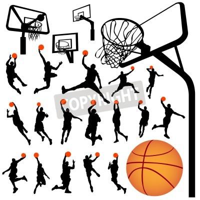 Poster basket e tabellone vettore