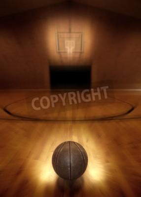 Poster Basket sul piano di vuoto basket