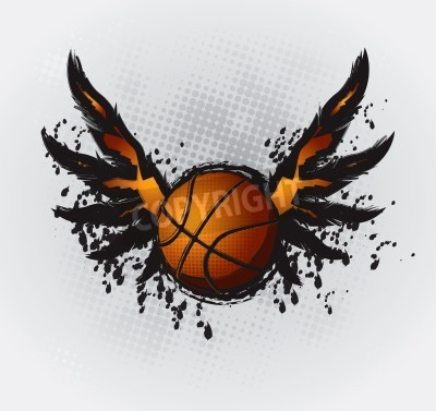 Poster Basketball Design Element 1 disegno vettoriale