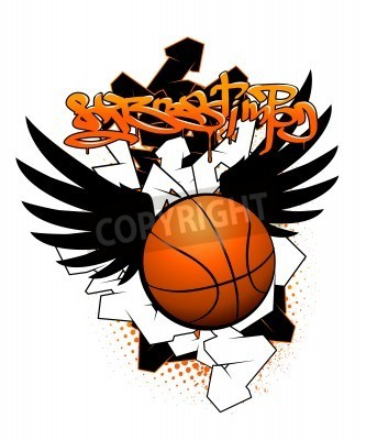 Poster Basketball graffiti image