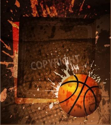 Poster Basketball poster pubblicitario. illustrazione di vettore
