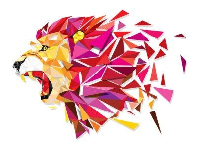 Poster Basso Llion poligono geometric pattern esplodere - vettore illustratio