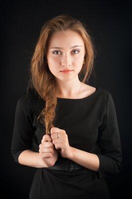 Poster Bella bruna giovane donna
