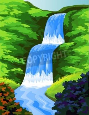 Poster Bella cascata