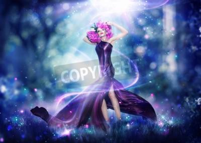 Poster Bella fantasia fata donna, Fashion art ritratto