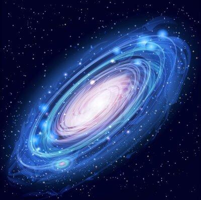 Poster Bella Glowing Vector Galassia di Andromeda