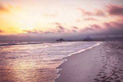 Poster Bella spiaggia al tramonto