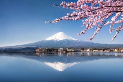 Poster Berg Fuji in Giappone Kawaguchiko