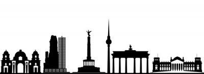 Poster berlin skyline della città