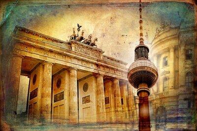 Poster Berlino design illustrazione