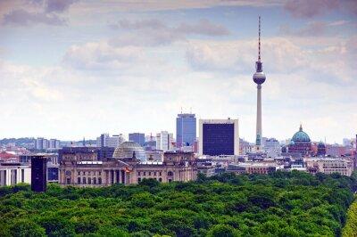 Poster Berlino paesaggio urbano
