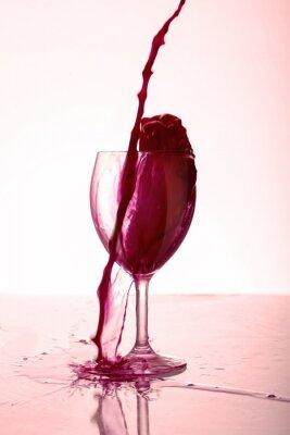 Poster Bicchiere di Vino