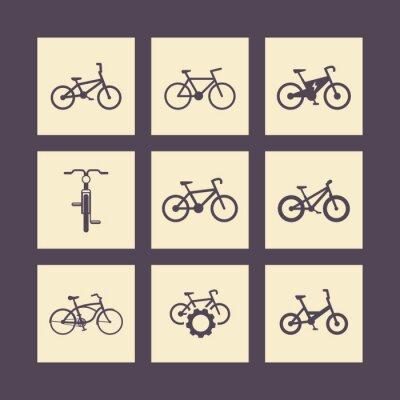 Poster bicicletta, bicicletta, bicicletta, bicicletta elettrica, grassi-bike icone quadrate
