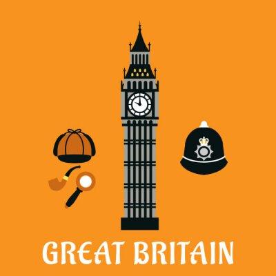 Poster Big Ben torre e altri oggetti bretagna