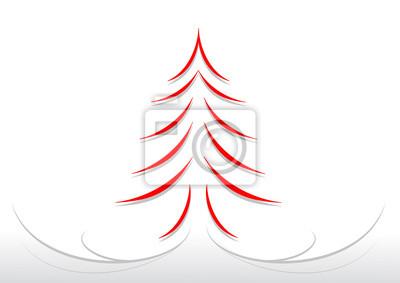 Immagini Natalizie Stilizzate.Poster Bigliettino Albero Di Natale Stilizzato