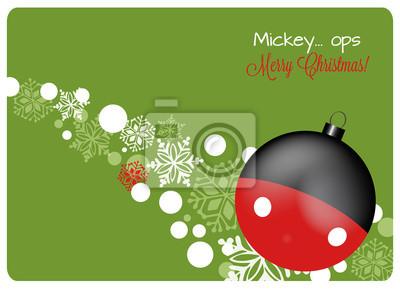 Auguri Di Natale Disney.Poster Biglietto Di Auguri Di Natale Con Decorazioni Di Natale E Fiocchi
